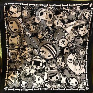 Tokidoki black and white bandana/hankerchief